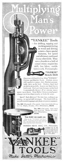 AD: POWER TOOLS, 1918. American advertisement for Yankee Tools, including the Yankee