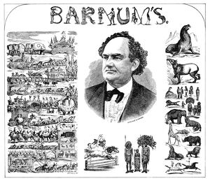 AD: P.T. BARNUM, 1873. American advertisement for P