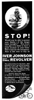 AD: REVOLVER, 1919. American advertisement for the Iver Johnson Safety Automatic Revolver