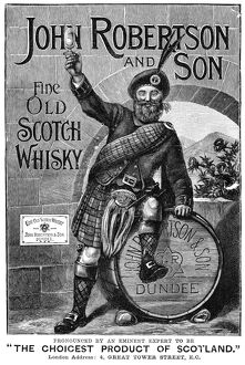AD: SCOTCH WHISKY, 1893. English advertisement for John Robertson and Son scotch whisky