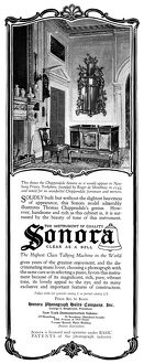 AD: SONORA, 1919. American advertisement for the Sonora Phonograph Sales Company, 1919