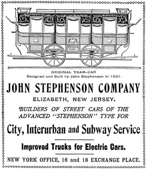 AD: STREETCARS, 1901. American magazine advertisement for John Stephenson Company