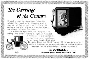 AD: STUDEBAKER CARRIAGES. American magazine advertisement for Studebaker Carriages