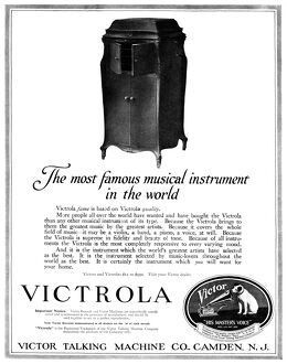 AD: VICTROLA, 1919. American advertisement for the Victrola, manufactured by the