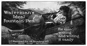 AD: WATERMAN'S, 1919. American advertisement for Waterman's Fountain Pen, 1919