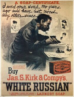 vintage ads/ad white russian soap ad james s kirk companys