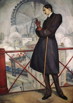 ADOLFO BEST-MAUGARD (1891-1965). Mexican artist. Oil on canvas by Diego Rivera, 1913.