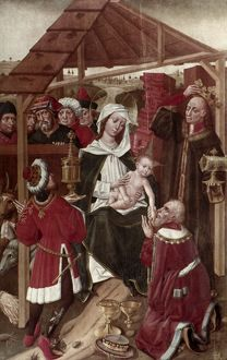 ADORATION OF THE MAGI. The Adoration of the Kings. Stanislaw Durink, Polish School, c1480.