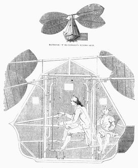 Airship invented by Jean Pierre Francois Blanchard in the 18th century.