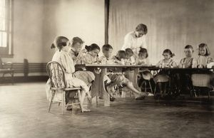 ALABAMA: CLASSROOM, 1911. Children of the mill settlement attending school at Lynchburg