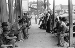 whats new/alabama workers 1941 group men unemployed