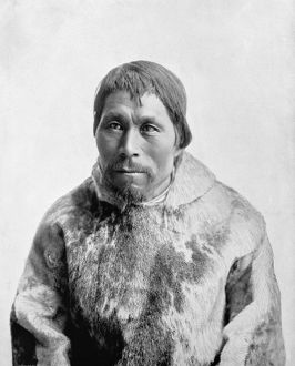 ALASKA: ESKIMO MAN, c1893. Eskimo man identified as Yoo-Ka-Lucke, Johnny-Jump-Up