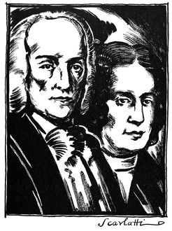 ALESSANDRO SCARLATTI (1660-1725). Italian composer. Scarlatti with his son Domenico Scarlatti