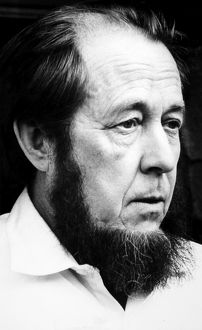 ALEXANDER SOLZHENITSYN (1918- ). Russian writer. Photographed in exile at Dueren