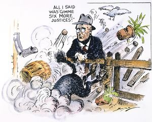 'All I Said Was 'Gimme Six More Justices'!': American cartoon by Clifford K