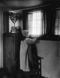 ALLEN: GOOD MORNING, c1900. 'Good morning!' Platinum print by Frances Stebbins