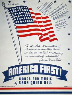 'America First!' American sheet music cover, 1940, favoring isolationism