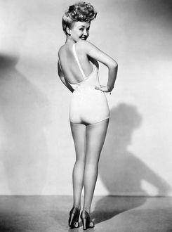 American actress. The most popular pin-up photograph of the American armed forces