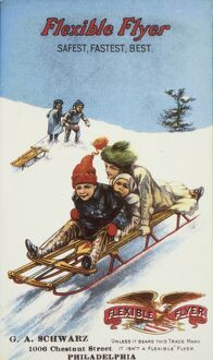 American advertisement, c1900, for Flexible Flyer sleds.