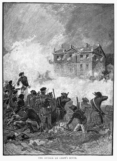 The American attack on the house of Benjamin Chew, a British stronghold during the