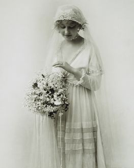 AMERICAN BRIDE, c1925. A portrait of Ivy Sawyer, c1925.