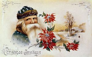 AMERICAN CHRISTMAS CARD. /nLate 19th century.
