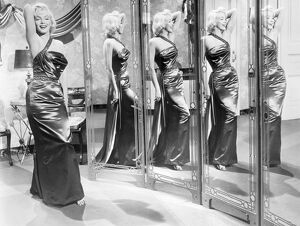 American cinema actress. In a scene from 'How to Marry A Millionaire,' 1953.
