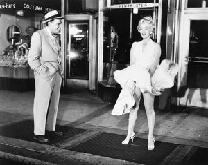 American cinema actress. With Tom Ewell in a scene from 'The Seven Year Itch
