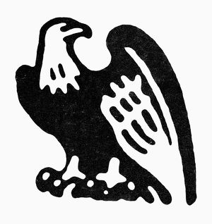 AMERICAN EAGLE, 1854. Eagle symbol used by the Republican National Committee, 1850s.