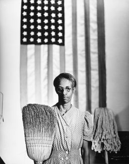 AMERICAN GOTHIC, 1942. 'Ella Watson, a US Government Chairwoman