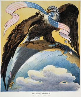 AMERICAN IMPERIALISM, 1904. The Eagle of American Imperialism with wings spread