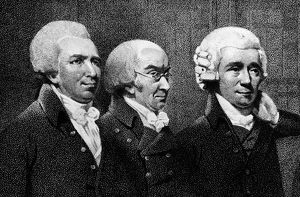 American physician and double agent during the American Revolution. Bancroft, far left, with Dr