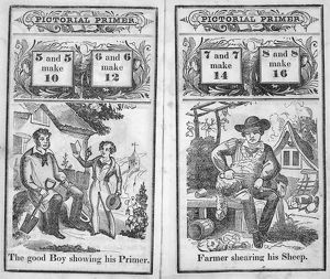 AMERICAN PICTORIAL PRIMER. Pages from an American pictorial primer, c1845