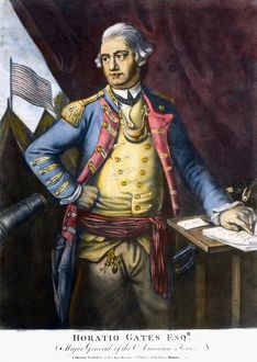 American Revolutionary officer. Mezzotint, English, 1778.