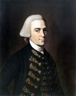 American revolutionary politician. Oil on canvas, c1770-1772, by John Singleton Copley
