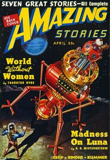 science fiction/american science fiction magazine cover 1939