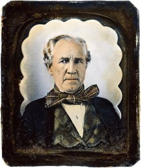 American soldier and political leader. Oil over a daguerrotype, c1850-55.