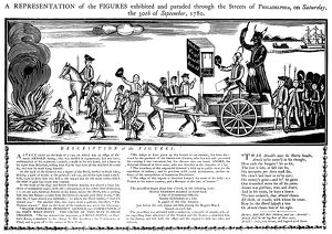 American soldier and traitor. Facsimile of a broadside published in 1780