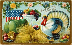 food drink/american thanksgiving card c1900