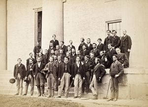 AMHERST UNDERGRADUATES. A group of undergraduates at Amherst College, Massachusetts