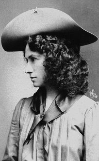 ANNIE OAKLEY (1860-1926). American markswoman. Photographed c1902.