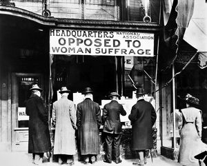 ANTI-SUFFRAGE ASSOCIATION. Headquarters of the National Anti-Suffrage Association at Washignton, D