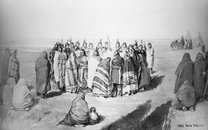 ARAPAHO GHOST DANCE, 1891. 'The Ghost Dance - Larger Circle