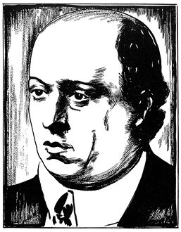 ARNOLD SCHOENBERG (1874-1951). Austrian composer. Drawing, c1932, by Samuel Nisenson.