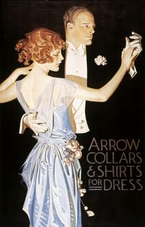 ARROW SHIRT COLLAR AD. American advertisement by J