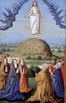 The Ascension from a French Book of Hours, c1480.