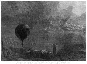 Ascent of Henry Tracey Coxwell's hot air balloon from the Crystal Palace grounds in London