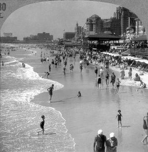 ATLANTIC CITY, 1920s. Summer crowds at the seaside resort of Atlantic City, New Jersey