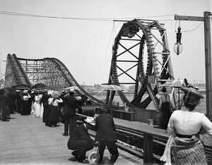 ATLANTIC CITY, c1901. The roller coaster, known as 'Loop-the-Loop', on the