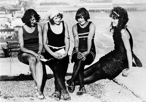ATLANTIC CITY: WOMEN. Four New York bathing beauties at the carnival in Atlantic City, New Jersey